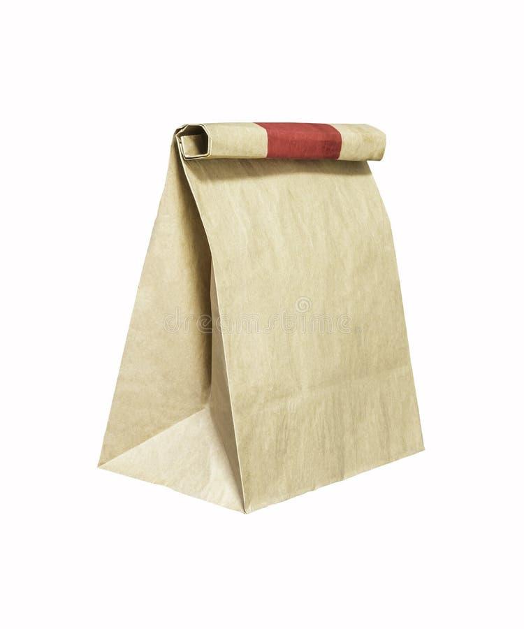 Ανακυκλώστε την τσάντα καφετιού εγγράφου στοκ εικόνες