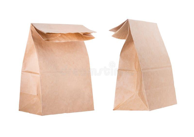 Ανακυκλώστε την τσάντα καφετιού εγγράφου στοκ φωτογραφία με δικαίωμα ελεύθερης χρήσης