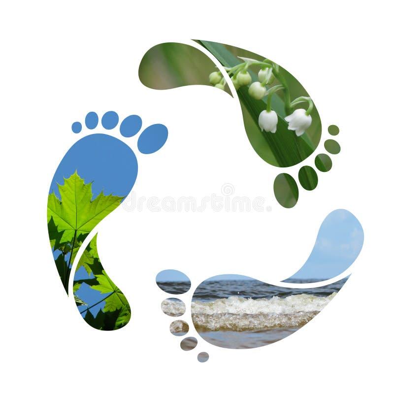 ανακύκλωσης σημάδι ίχνου&s ελεύθερη απεικόνιση δικαιώματος