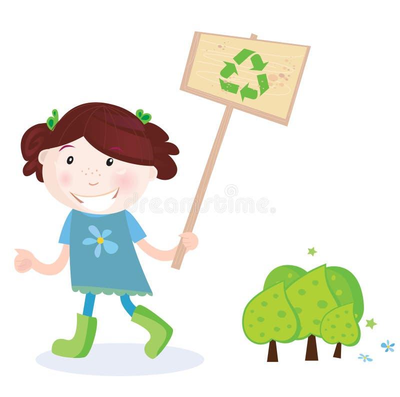 ανακύκλωσης σημάδι παιδι ελεύθερη απεικόνιση δικαιώματος