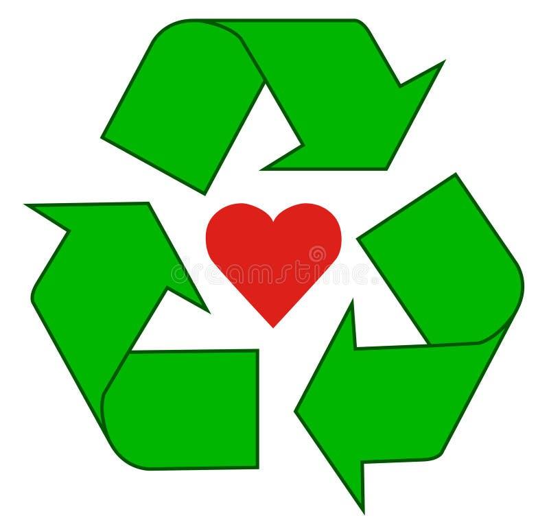 ανακύκλωση αγάπης διανυσματική απεικόνιση