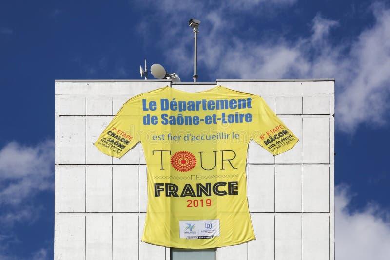 Ανακύκλωση γύρου de Γαλλία στην υπηρεσία Saone et της Loire στη Γαλλία στοκ εικόνες