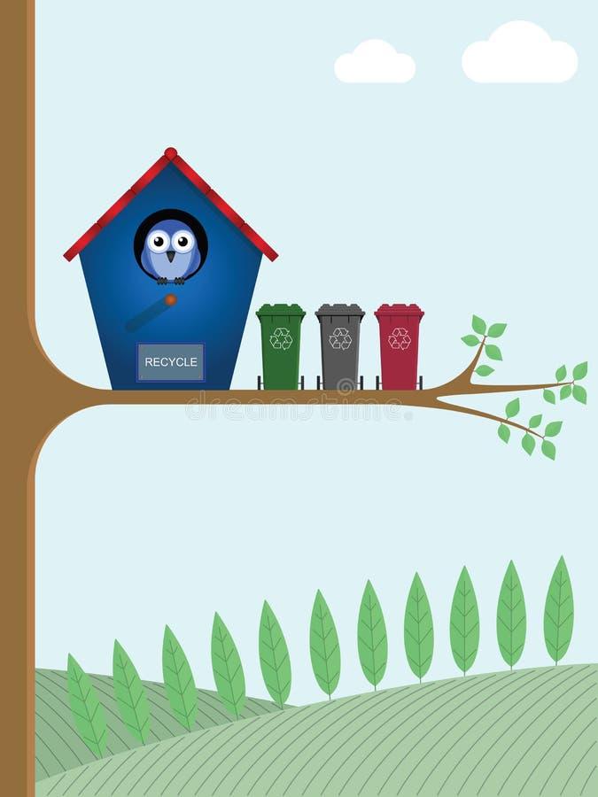 ανακύκλωση δοχείων διανυσματική απεικόνιση