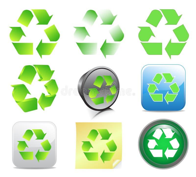 ανακύκλωση εικονιδίων διανυσματική απεικόνιση