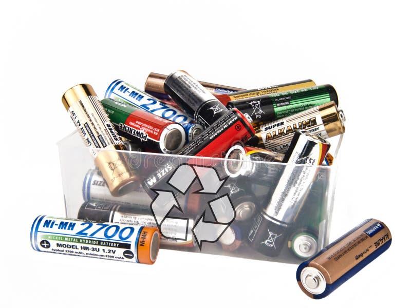 ανακύκλωση μπαταριών στοκ εικόνα