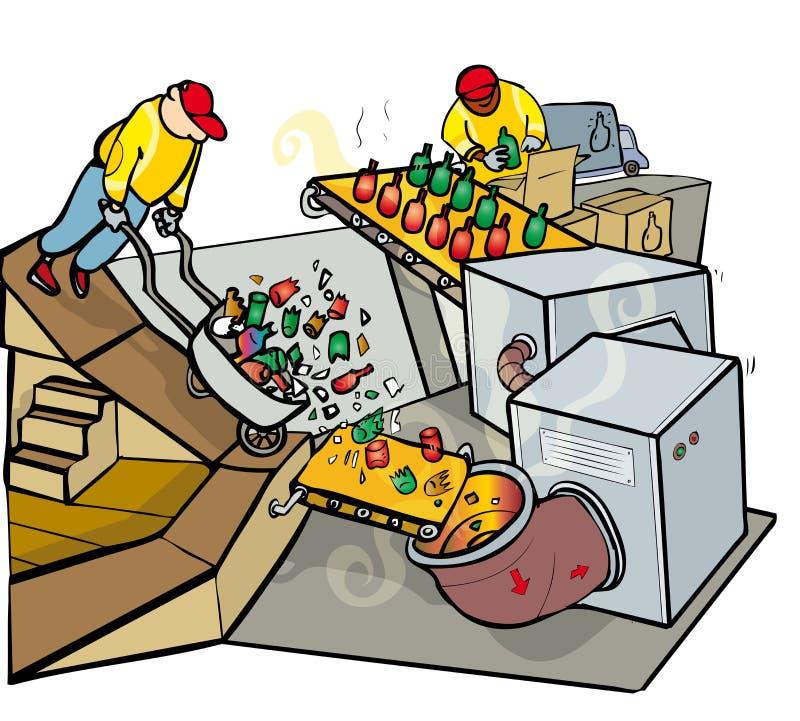 Ανακύκλωση γυαλιού απεικόνιση αποθεμάτων