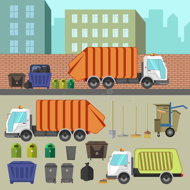 Ανακύκλωση και αφαίρεση απορριμμάτων απεικόνιση αποθεμάτων