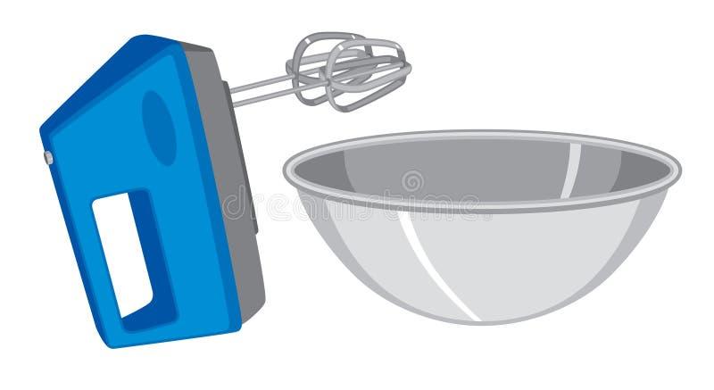 Αναμίκτης και κύπελλο χεριών απεικόνιση αποθεμάτων