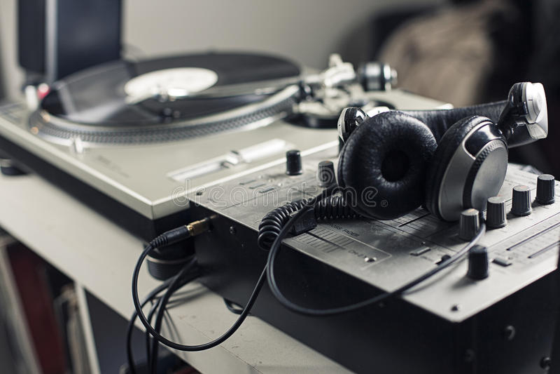 Αναμίκτης του DJ στοκ εικόνες με δικαίωμα ελεύθερης χρήσης
