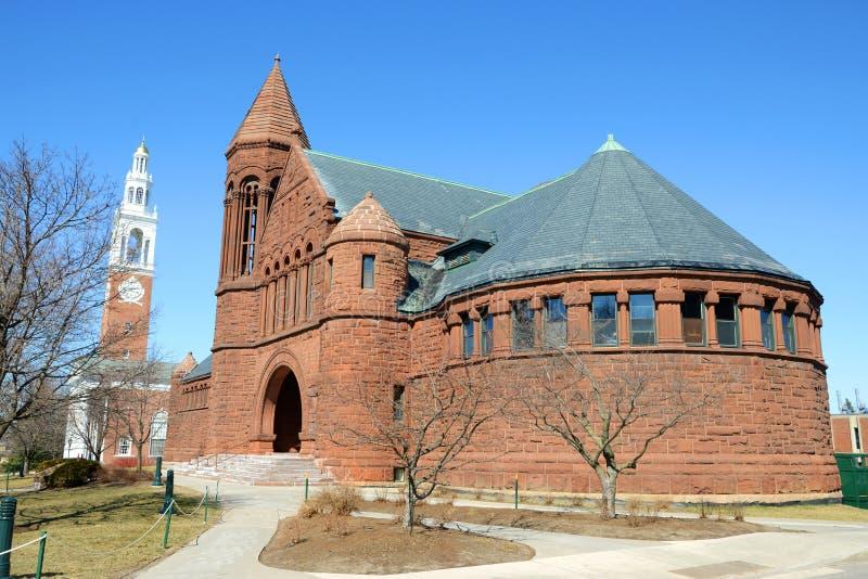 Αναμνηστική βιβλιοθήκη του Billings, πανεπιστήμιο του Βερμόντ, Μπέρλινγκτον στοκ φωτογραφίες