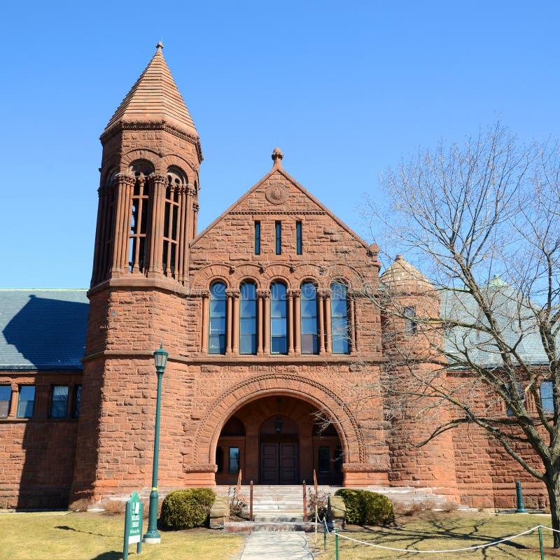 Αναμνηστική βιβλιοθήκη του Billings, πανεπιστήμιο του Βερμόντ, Μπέρλινγκτον στοκ εικόνες