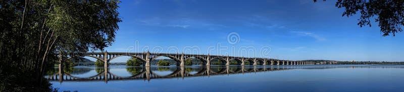Αναμνηστική γέφυρα παλαιμάχων στον ποταμό Susquehanna στοκ φωτογραφία με δικαίωμα ελεύθερης χρήσης