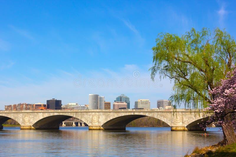 Αναμνηστική γέφυρα του Άρλινγκτον, Washington DC, ΗΠΑ στοκ εικόνες