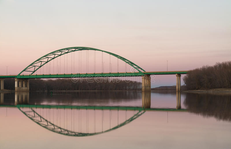 Αναμνηστική γέφυρα του Λίνκολν, Ιλλινόις στοκ φωτογραφίες με δικαίωμα ελεύθερης χρήσης