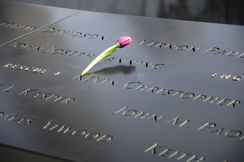 9/11 αναμνηστική Νέα Υόρκη στοκ εικόνα με δικαίωμα ελεύθερης χρήσης