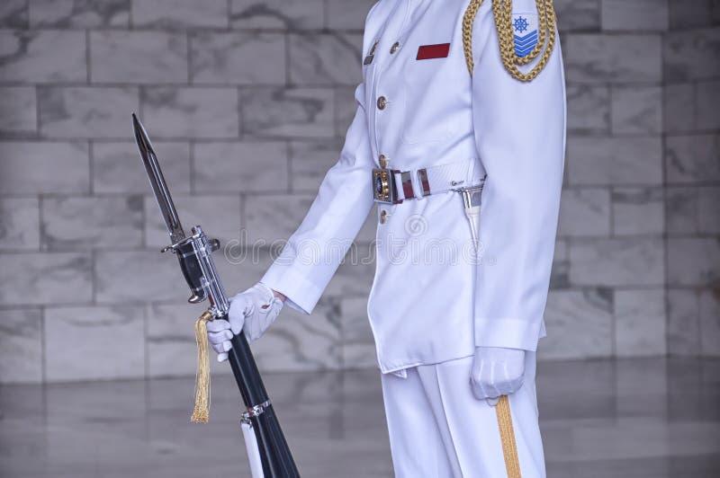 Αναμνηστική φρουρά αιθουσών της Ταϊπέι Chiang Kai-Shek στοκ εικόνα