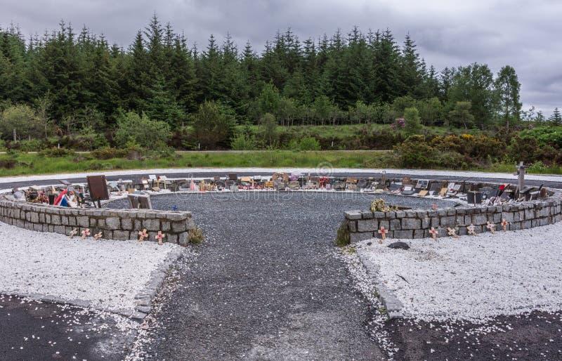 Αναμνηστικός κύκλος στο αναμνηστικό άγαλμα καταδρομέα, Σκωτία στοκ εικόνες με δικαίωμα ελεύθερης χρήσης