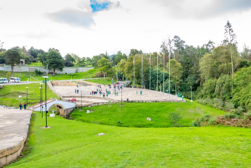 Αναμνηστικός τομέας της Κολομβίας Tunja της μάχης Boyaca στοκ εικόνες με δικαίωμα ελεύθερης χρήσης