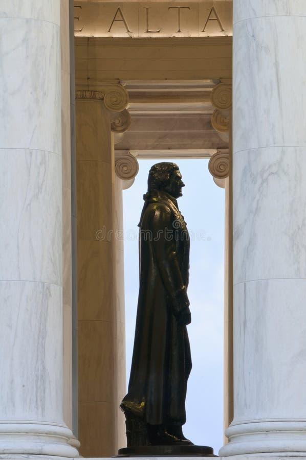 Αναμνηστικό άγαλμα του Thomas Jefferson στοκ εικόνες