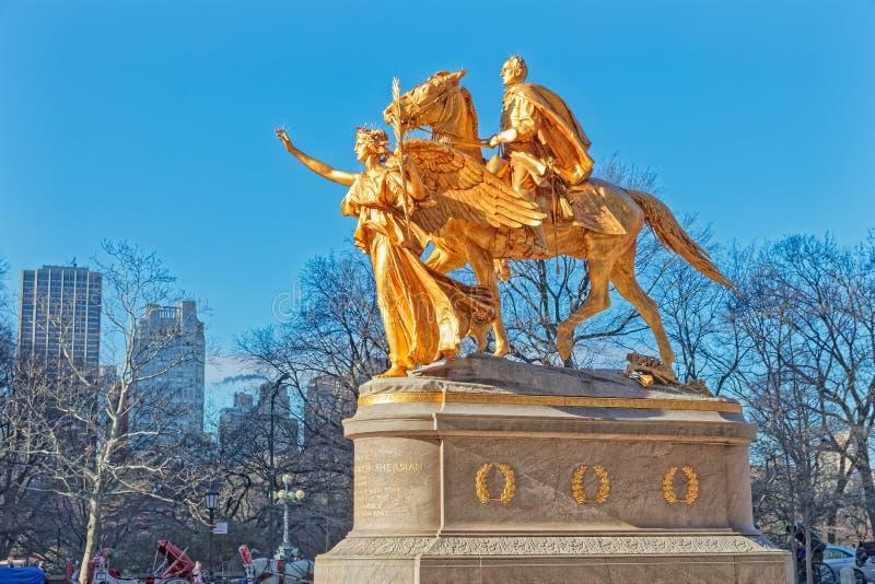 Αναμνηστικό γλυπτό της Νέας Υόρκης Central Park Sherman στοκ φωτογραφία με δικαίωμα ελεύθερης χρήσης