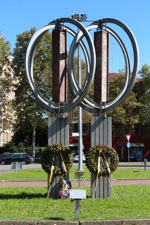 Αναμνηστικό μνημείο της 11ης Σεπτεμβρίου, Μοντένα, Ιταλία στοκ φωτογραφία με δικαίωμα ελεύθερης χρήσης