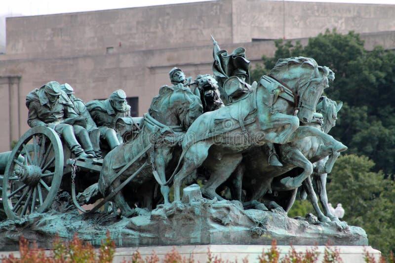 Αναμνηστικό μνημείο Washington DC εμφύλιου πολέμου στοκ φωτογραφίες