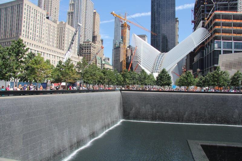 9/11 αναμνηστικό σημείο μηδέν του Μανχάταν στοκ φωτογραφία