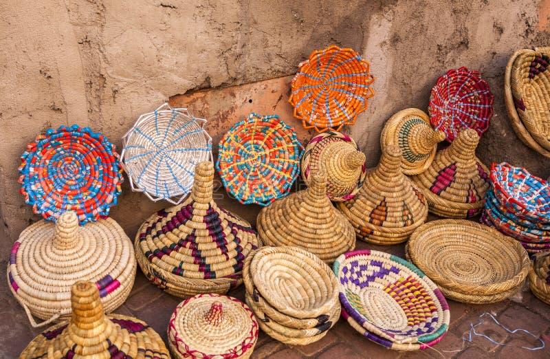 Αναμνηστικό στην αγορά παζαριών του Μαρακές, Μαρόκο στοκ εικόνες