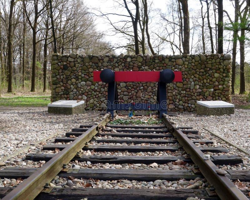 Αναμνηστικό στρατόπεδο Westerbork ολοκαυτώματος στοκ εικόνες