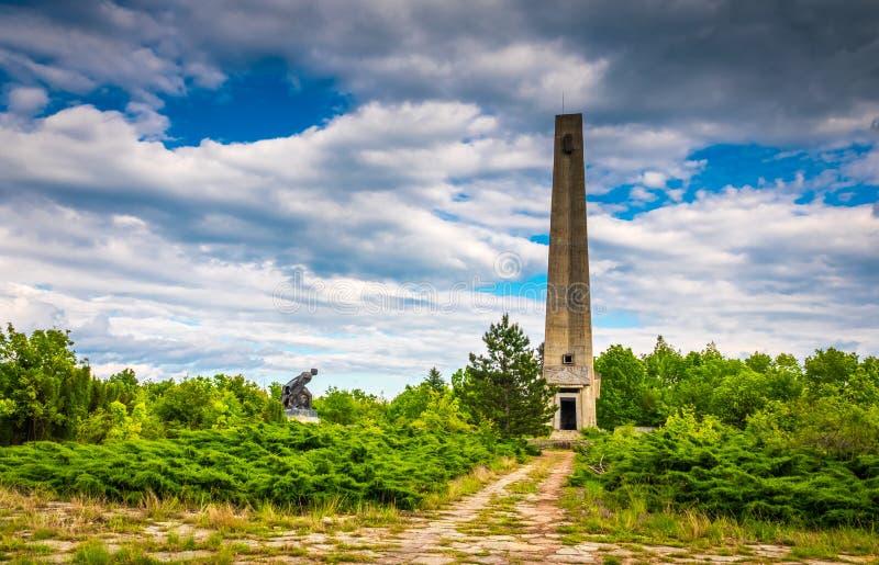 Αναμνηστικό obelysk στην περιοχή πάρκων στοκ εικόνα