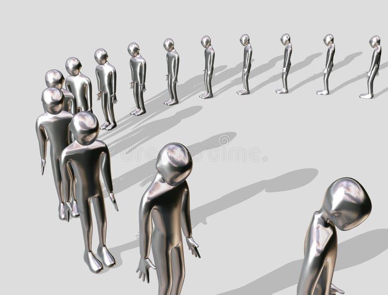 Download αναμονή ατόμων αλουμινίο&upsilo Στοκ Εικόνα - εικόνα από μαύρα, άτομο: 1529853