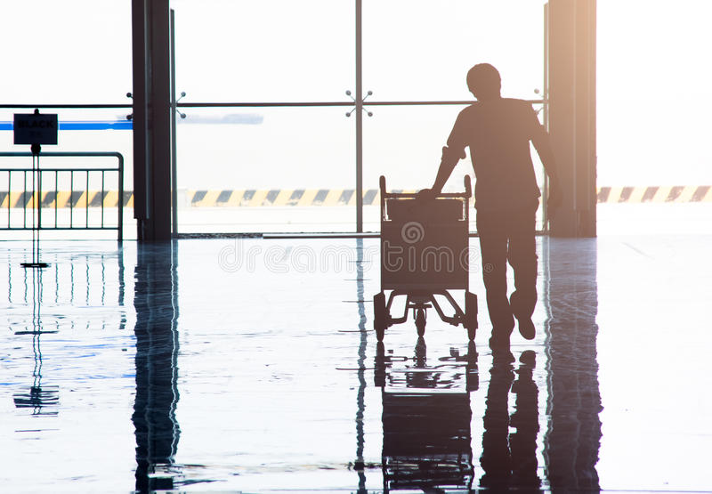 Αναμονή στον αερολιμένα στην Κίνα στοκ εικόνα