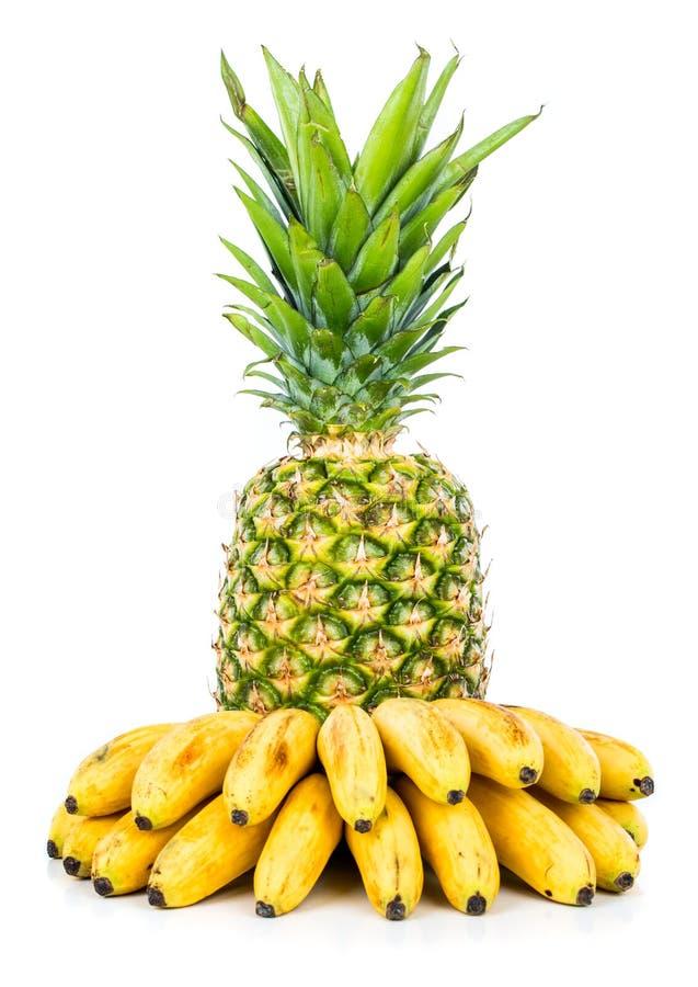 Ανανάς και μπανάνα στοκ εικόνες