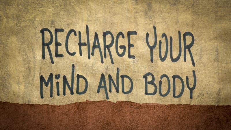 Ανανεώστε τη συμβουλή του μυαλού και του σώματος σας στοκ εικόνες