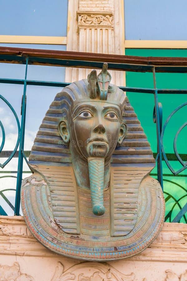 Αναπαραγωγή του κεφαλιού της Σαρκοφάγου Tutankhamun στοκ φωτογραφία με δικαίωμα ελεύθερης χρήσης