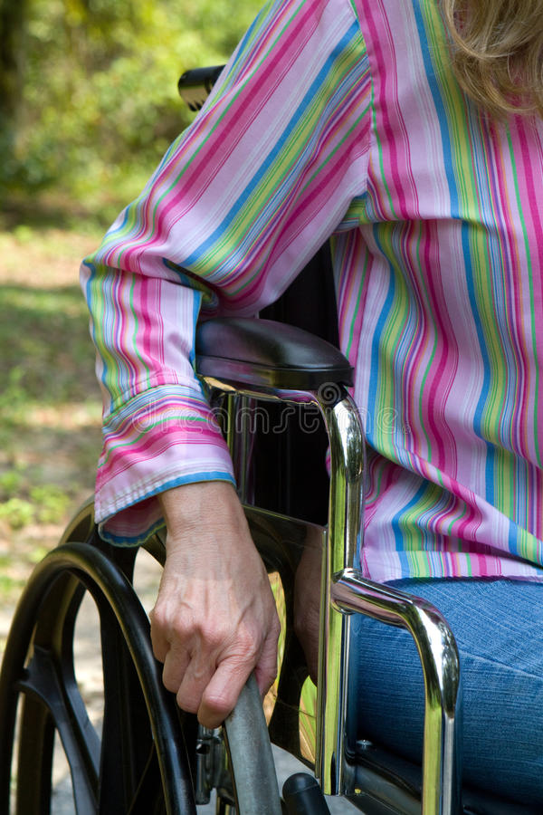 Αναπηρική καρέκλα χεριών στοκ εικόνα
