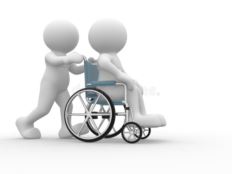αναπηρική καρέκλα απεικόνιση αποθεμάτων