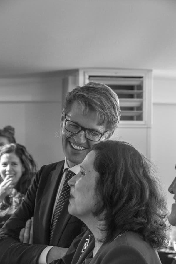 Αναπληρωτής σημαντικό Χ Ι van Garderen και Υπουργός Dekker σε Almere οι Κάτω Χώρες 2018 στοκ φωτογραφία με δικαίωμα ελεύθερης χρήσης