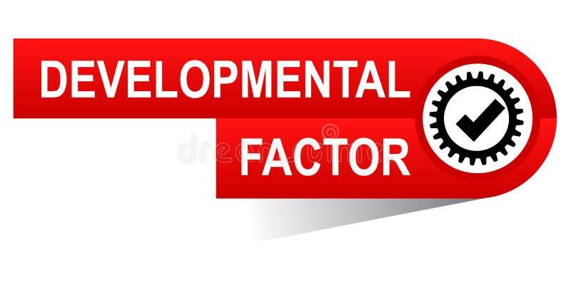 Αναπτυξιακό έμβλημα παράγοντα διανυσματική απεικόνιση