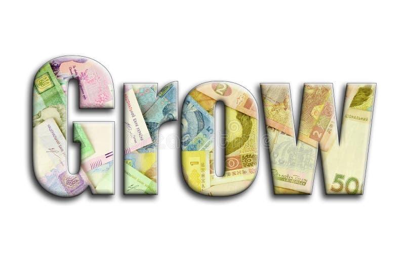 αναπτύξτε Η επιγραφή έχει μια σύσταση της φωτογραφίας, η οποία απεικονίζει πολλούς ουκρανικούς λογαριασμούς χρημάτων στοκ φωτογραφίες με δικαίωμα ελεύθερης χρήσης
