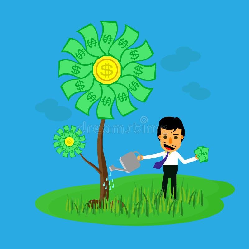αναπτύξτε τα χρήματα διανυσματική απεικόνιση