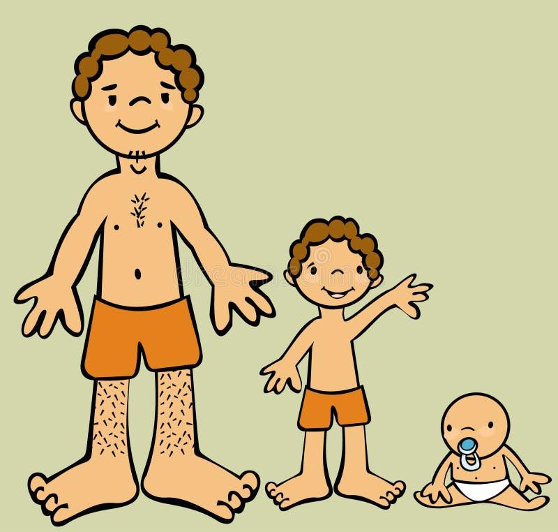 αναπτύσσοντας αρσενικό διανυσματική απεικόνιση