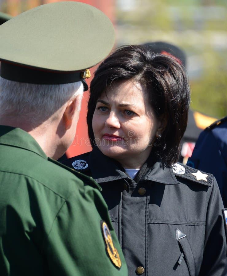 Αναπληρωτής υπουργός της υπεράσπισης της Ρωσικής Ομοσπονδίας Τατιάνα Shevtsova στοκ φωτογραφία