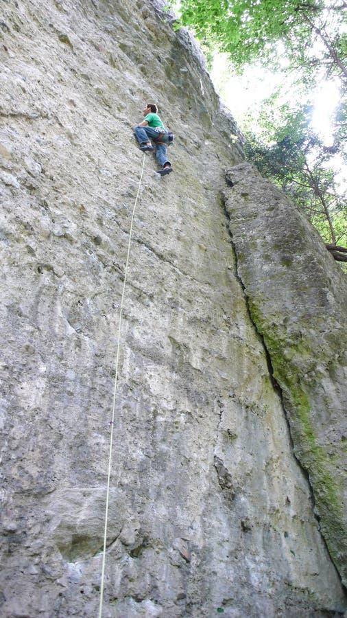 Αναρρίχηση βράχου στην Αυστρία στο Vorarlberg στοκ φωτογραφία