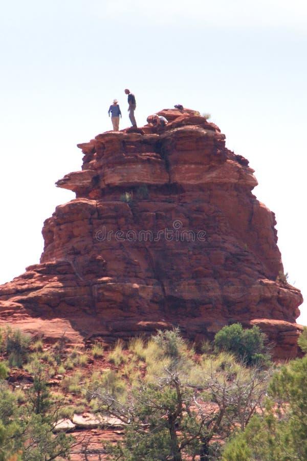 Αναρρίχηση βράχου στο φαράγγι Boynton στοκ φωτογραφία με δικαίωμα ελεύθερης χρήσης