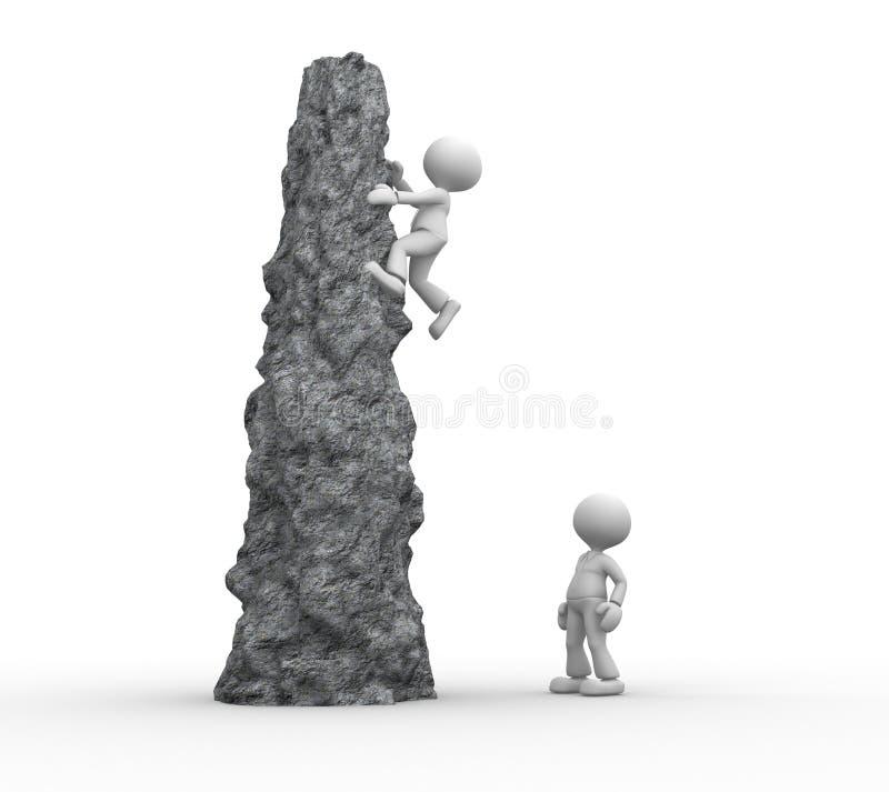 Αναρρίχηση ενός απότομου βράχου απεικόνιση αποθεμάτων