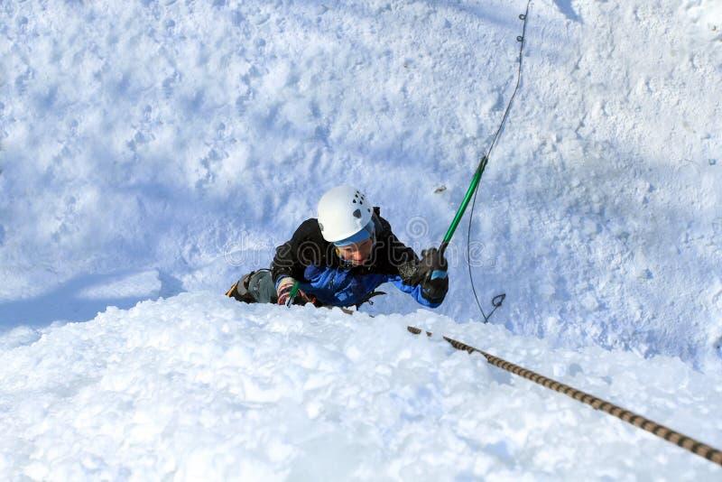 Αναρρίχηση πάγου στοκ φωτογραφία με δικαίωμα ελεύθερης χρήσης