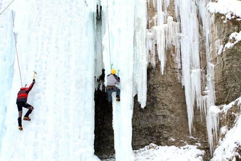 Αναρρίχηση πάγου στοκ εικόνες