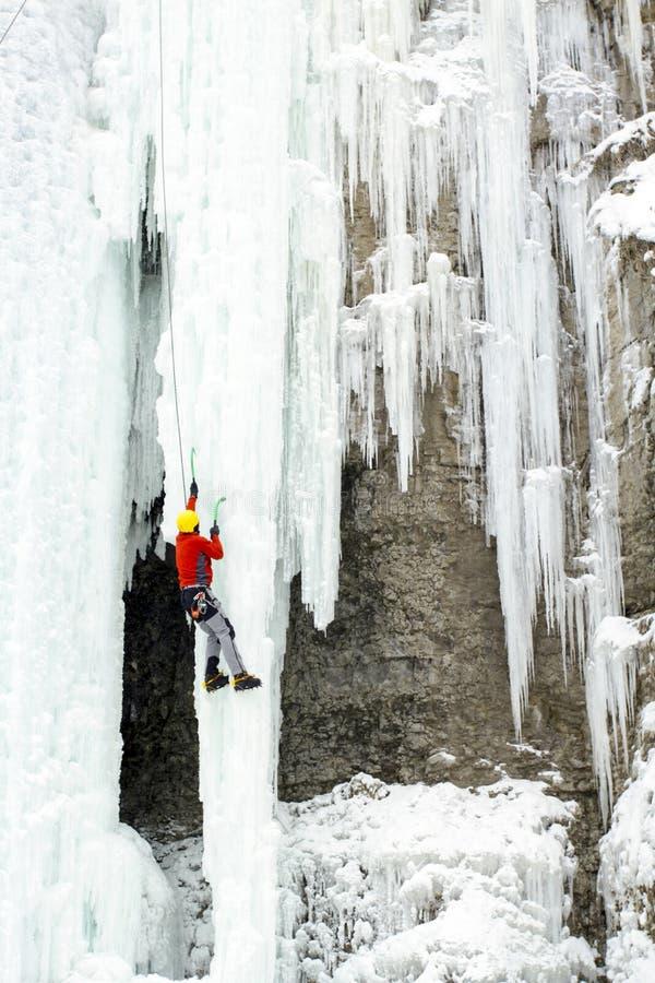 Αναρρίχηση πάγου στοκ φωτογραφίες