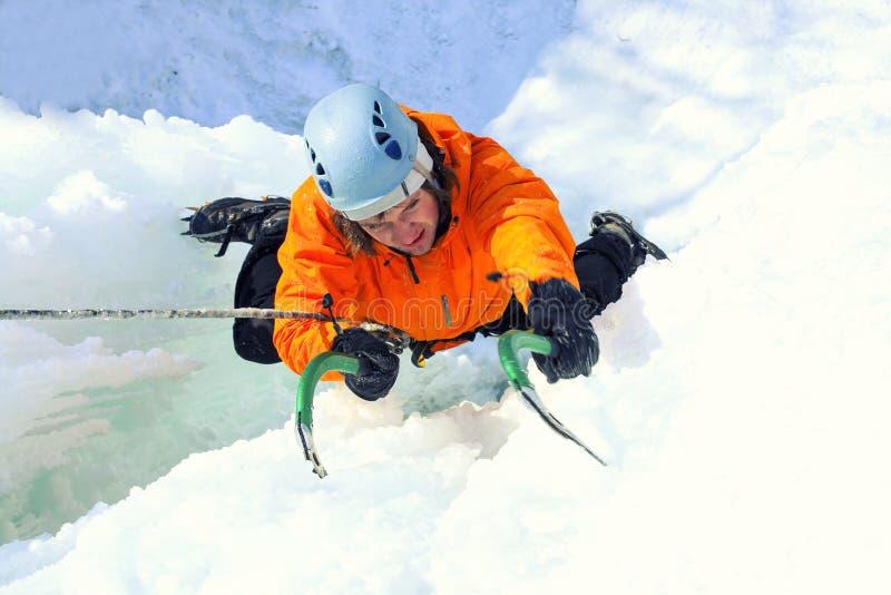 Αναρρίχηση πάγου στοκ φωτογραφία